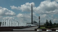 Victory Park In Moscow 2 Stock Footage