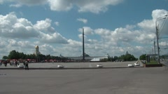 Victory Park In Moscow Stock Footage