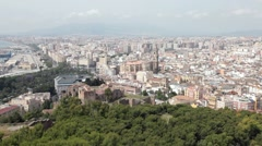 Malaga City Spain downtown P HD 9649 Stock Footage
