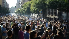 Protest Spain - stock footage