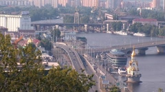 Kyiv bridge Stock Footage