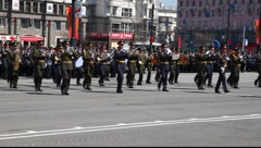 Soldiers Marching - stock footage
