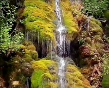 Incredible jungle  waterfall slow motion Stock Footage