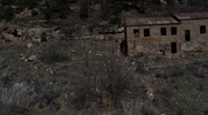 Scary abandoned building on a tilt and scary dummy Stock Footage