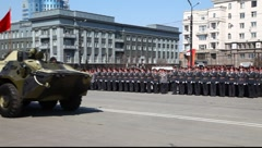 Military parade - stock footage