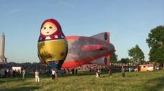 The XVI-th Velikie Luki International Balloon Meet - stock footage