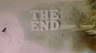 THE END Vintage 8mm Film Leader Texture Loop 136 Stock Footage