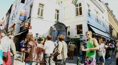 Timelapse of Manneken Pis in Brussels Stock Footage