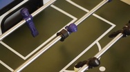 Table Soccer - classic goal with fast dribbling Stock Footage