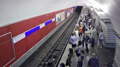 Nevsky Prospekt, timelapse, St. Petersburg, Russia Stock Footage