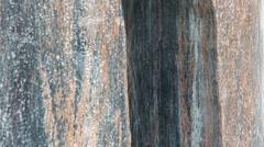 Water flowing on granite Stock Footage