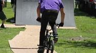 BMX riders do tricks Stock Footage