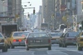 Traffic on a busy street in Manhattan Footage