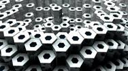 Stock Video Footage of Metal Rods (HD+Loop)