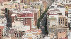 Malaga City Spain buildings road above P HD 8350 Stock Footage