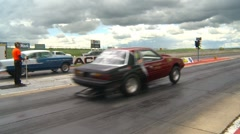 Motorsports, Drag racing 2011 season #1, mustang launch Stock Footage