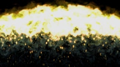 Fire and Flame Effect - Swipe Upwards with Alpha Stock Footage