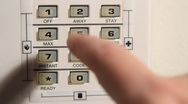Stock Video Footage of Alarm System Code Input
