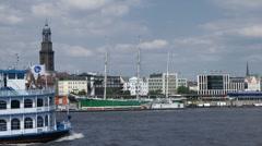 Hamburg harbour Stock Footage