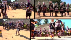 Akha Traditional Games - stock footage