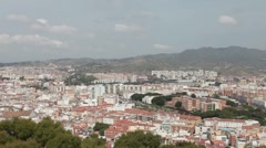 Malaga City Spain pan to port P HD 9652 Stock Footage