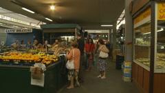 Market Glidecam - stock footage