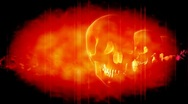 Skulls in Red Looping Animated Horror Background Stock Footage