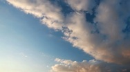 Stock Video Footage of sky with fluffy clouds