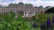 Belvedere palace - vienna Stock Footage