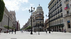 Sevilla Spain town center P HD 9789 Stock Footage