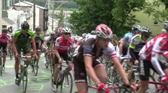 Bicycle Race Slow Motion Stock Footage