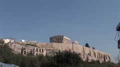 Acropolis in Athen Stock Footage