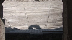 Odeon of Herod Atticus in Athens Stock Footage