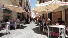 Sevilla Spain sidewalk restaurants P HD 9786 Stock Footage