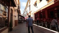 Sevilla street restaurants P HD 9783 Stock Footage