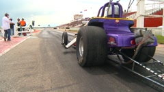 Motorsports, Drag racing 2011 season #14, altered burnout Stock Footage