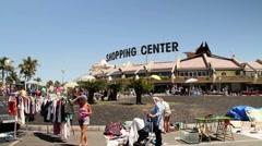 People walking on a Flea Market Stock Footage