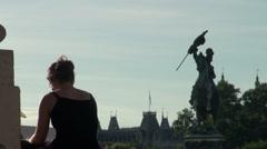Imperial Gardens at Vienna's Schonbrunn Stock Footage