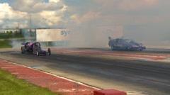 Motorsports, Drag racing 2011 season #22, jet cars smoke show Stock Footage