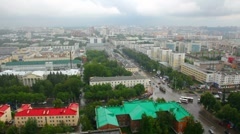 Top view on the panorama of city - Ufa Russia Stock Footage