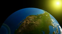 3D Looping Geo Globe. Alpha Channel, loop Stock Footage