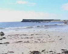 Spiddal Beach in Galway, Ireland Stock Footage