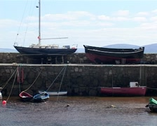 Spiddal Harbour in Galway, Ireland (1/4) Stock Footage