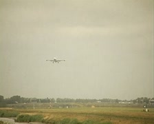 Airplane surinam airways landing Stock Footage