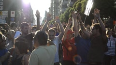 Occupy Spain protest - stock footage