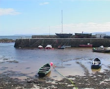Spiddal Harbour in Galway, Ireland (3/4) - stock footage