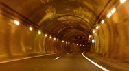 Stock Video Footage of Driving Time lapse. Tunnel.