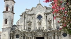 Baroque church: the Cathedral of Havana, Cuba Stock Footage