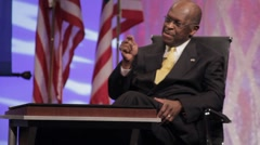 "Presidential Candidate Herman Cain ""American People"" Speech - Sit Down Stock Footage"