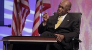 "Stock Video Footage of Presidential Candidate Herman Cain ""American People"" Speech - Sit Down"